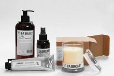 L:a Bruket – the Scandinavian brand provides understated, stylish hand made  soaps and spa products manufactured locally in Varberg, a locality at the  west coast of Sweden. The products' ingredients and raw materials are  almost all certified ecological and in addition artificial substances are  rarely added.  L:a Bruket follows the ambition to create products that should be used for  a certain purpose, have a certain function and should be beautiful. The smart and swell design combined ...