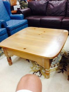 Lovely White Wash Coffee Table, an example of one of the beautiful items we have in store $145 #owensound #homedecor