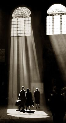 Sunlight streams through the windows of Liverpool Street Station London on StarEditions.comWholesale Prints