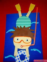 Image result for scuba diver kindergarten craft