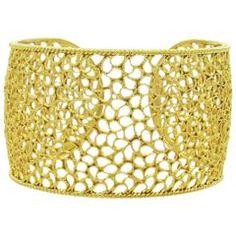 Impressive Buccellati Filidoro Wide Gold Cuff Bracelet