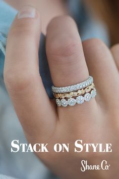 Do you love the stacking ring trend as much as we do? #ShaneCo