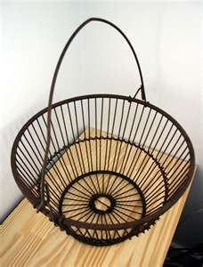 Up cycle an old egg basket to use as decor