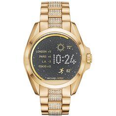 Michael Michael Kors Bradshaw Access Bracelet Smart Watch, 45Mm ($395) ❤ liked on Polyvore featuring jewelry, watches, michael kors, michael kors watches, dial watches and michael kors jewelry