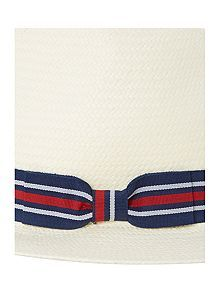 Panama Hat With Striped Band