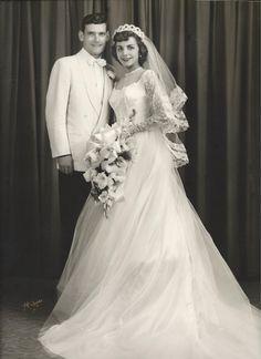 1952 Wedding My Mom and Dad!