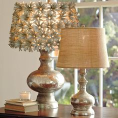 Book paper flower lampshade