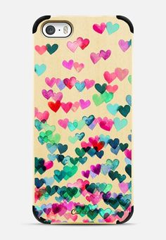Heart Connections 2 - variation - pink, teal, emerald green iPhone 6 case by Micklyn Le Feuvre | Casetify