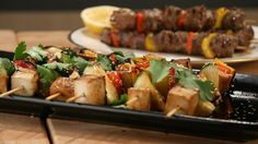 Smoked tofu and veggie skewers, something for the vegetarians coming to that BBQ