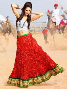 Fabulous red color golden block print cotton skirt. Item Code : SKPG313235 http://www.bharatplaza.com/new-arrivals/skirts/fabulous-golden-print-skirt-skpg313235.html