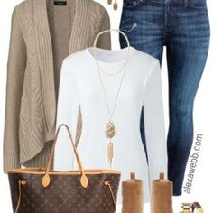 Plus Size Sand Cardigan Outfit - Plus Size Fashion for Women - alexawebb.com…