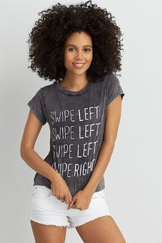 American Eagle Outfitters AEO Don't Ask Why Graphic T-Shirt ($20)