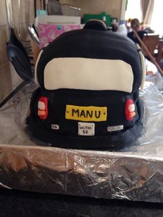Cab cake from the back