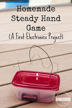 Electronics Project for Kids - Kids will be amazed as they learn about electricity while making this steady hand electronics game. This is such a fun science project that while help them learn as they play! Great for kindergarten, first grade, second grade, third grade, fourth grade, fifth grade, sixth grade, and more for after school, science fair project, homeschooling, and more!