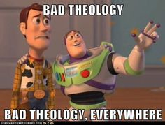 bad theology... it's everywhere. #lutheran #humor