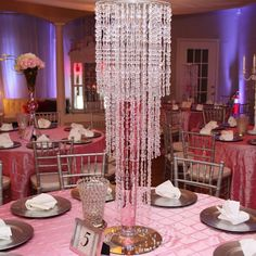 @angelica1234578 Crystal Reception Centerpiece
