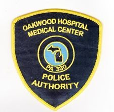 MICHIGAN HOSPITAL POLICE PATCH Oakwood Medical Ctr., Dearborn
