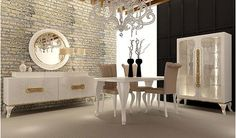 Dining Room, Dining Table, Sofa Design, Modest Fashion, Bedroom Decor, House, Furniture, Bedrooms, Room Ideas