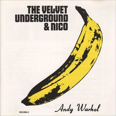 the velvet underground & Nico album, iconic cover art by andy warhol. Iconic Album Covers, Greatest Album Covers, Rock Album Covers, Classic Album Covers, Music Album Covers, The Velvet Underground, Underground Music, Andy Warhol Werke, Chicas Punk Rock