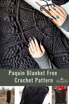 The Paquin Blanket free crochet pattern is a celebration of beautiful crochet texture that works up quickly with a bulky weight yarn!