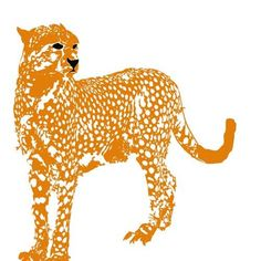 The Big Cat Cheetah Kids Art Prints jungle animal by ialbert