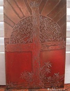 First Fruits Etched Copper Metal Art