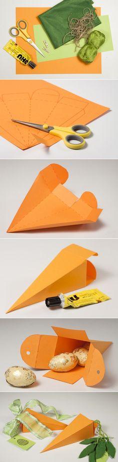 diy easter treat bags kids carrot shaped box tutorial