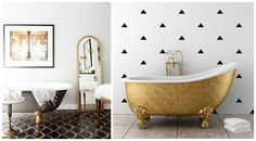Fresh Shades of Bathroom Design: Colorful Clawfoot Tubs   costruction2style