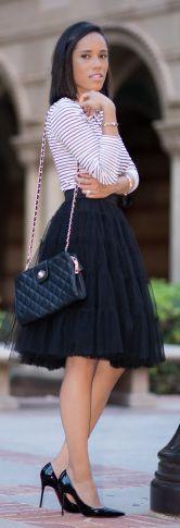 Plog Style Black Tulle Skirt Fall Inspo #Fashionistas
