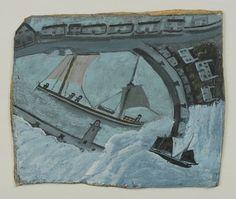 "St. Ives Harbor Alfred Wallis (British, 1855–1942) (c. 1932-33). Oil on board, 10 1/8 x 12 3/8"" (25.7 x 31.4 cm). Gift of Ben Nicholson. © 2013 Alfred Wallis / Artists Rights Society (ARS), New York / DACS, London"