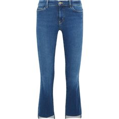 M.i.h Jeans Marrakesh cropped mid-rise flared jeans (14,005 PHP) via Polyvore featuring jeans, cropped flare jeans, medium rise jeans, cropped jeans, flared cropped jeans and mid rise jeans