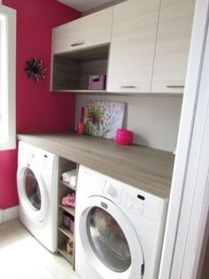 67 trendy home organization wall doors Laundry Room Remodel, Laundry Room Cabinets, Laundry Closet, Laundry Room Storage, Small Laundry, Laundry Room Design, Laundry In Bathroom, Pink Laundry Rooms, Laundry Area