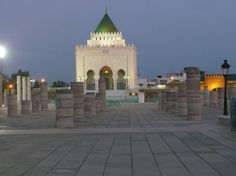 The famous mausoleum of Rabat, where King Hassan II and his father are buried. www.asilahventures.com