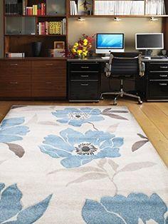 Teppich Wohnzimmer Carpet modernes Design VOQUE FLORAL RUG 100% Polypropylene 80x150 cm Rechteckig Blau | Teppiche günstig online kaufen https://www.amazon.de/dp/B017RBB0NK
