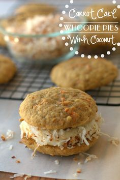 Yum! Carrot Cake Whoopie Pies by Food, Folks, and Fun for Tatertots and Jello