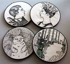 Cool Embroidery idea using photos of family members