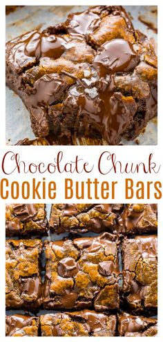 Brownie Recipes, Cookie Recipes, Dessert Recipes, Easy Desserts, Delicious Desserts, Yummy Food, Cookie Butter, Peanut Butter, Chocolate Chunk Cookies