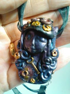 Clay Steampunk pendant created by Steampunk Amore