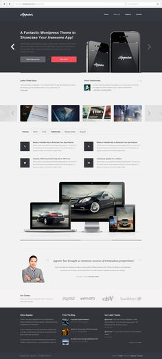 Appster | WordPress Theme by Paul Victor, via Behance