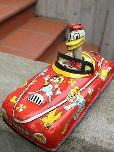Linemar Friction Donald Tin Car This Wonderful Car Is Made in Japan