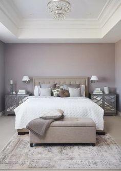17 Simple But Awesome Master Bedroom Design Idea 5 ~ Home Design Deccoration Purple Master Bedroom, Mauve Bedroom, Best Bedroom Colors, Master Bedroom Interior, Bedroom Color Schemes, Home Decor Bedroom, Interior Design Living Room, Purple Bedrooms, Bedroom Ideas Purple