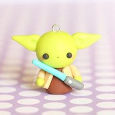 Repost of my Yoda charm from last year! May the 4th be with you #polymerclay #polymer #clay #cute #kawaii #handmade #art #craft #polymerclaycharms #yoda #starwars #sculpey #fimo #premo