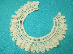 Vintage ivory hand crochet lace doily collar for by MarlenesAttic, $7.00