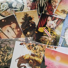 Restocking mini prints for Denver Punk Rock Flea Market! @denverprfm See you there Aug 5th!  #artshow #punkrock #denver #punkrockfleamarket #denverprfm #darkart #prints #printsforsale #art #artforsale #artoftheday #artistsoninstagram #artistsofinstagram #skullsnboobies