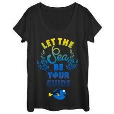 New product alert Finding Dory Sea ... find it here http://shop.boroughkings.com/products/finding-dory-sea-guide-scoop-neck-ladies-t-shirt?utm_campaign=social_autopilot&utm_source=pin&utm_medium=pin