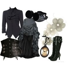 Steampunk Dreams outfit. Top and skirt from cultofcandy.com! Top is coming soon…