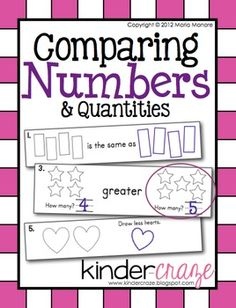 14 student work pages to help students learn early number sense, only $3.50