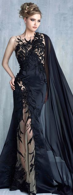 Negro / black sirena, Tony Chaaya Couture be nice in white for a Wedding Gown Beautiful Gowns, Beautiful Outfits, Beautiful Women, Elegant Dresses, Pretty Dresses, Evening Dresses, Prom Dresses, Mode Inspiration, Dream Dress