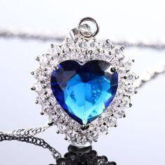https://fbcdn-sphotos-a-a.akamaihd.net/hphotos-ak-frc1/302452_531313506910624_271007491_n.jpg Brand New! LADY FASHION JEWELRY HEART CUT BLUE SAPPHIRE SILVER TONE PENDANT NECKLACE $19.99 If interested contact Edmond Hogge through Facebook http://www.facebook.com/BackwoodsParacordBraceletsAndMore