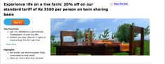 Live Life on a farm. Specially available through TheDealsPoint